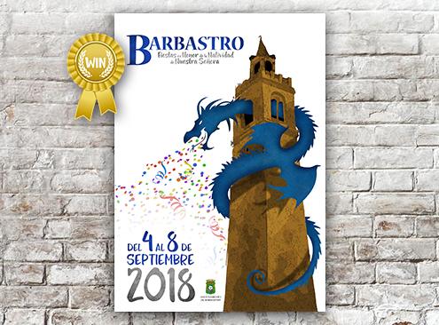 Cartel Fiestas Barbastro 2018