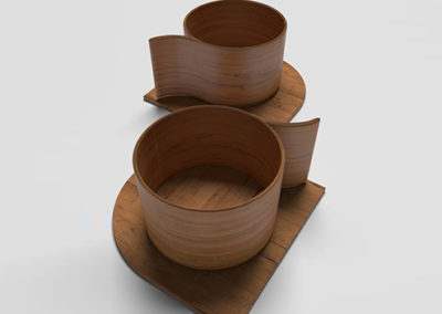 3D Tazas de madera