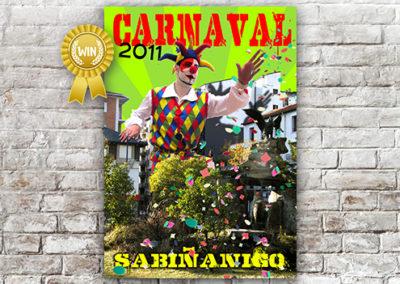 Cartel Carnaval Sabiñánigo 2011