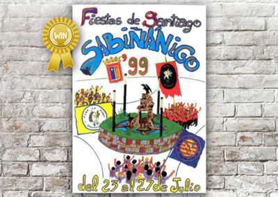 Cartel Fiestas Sabiñánigo 1999
