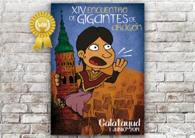 Cartel Gigantes Calatayud 2014