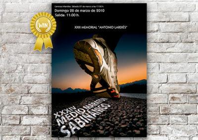 Cartel Medio Maratón Sabiñánigo 2010