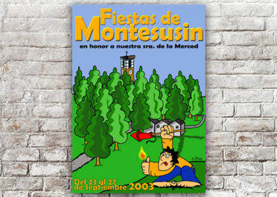 Cartel Montesusín 2003